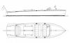 28' Bermuda Runabout profile and overhead