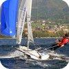 Double trapeze skiff
