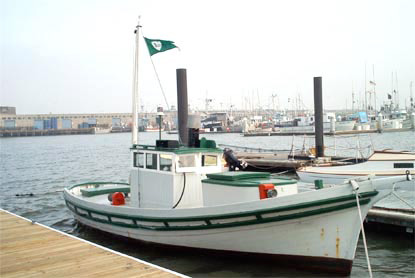 WETTON, a Monterey fishing boat built by Dominic Labruzzi.