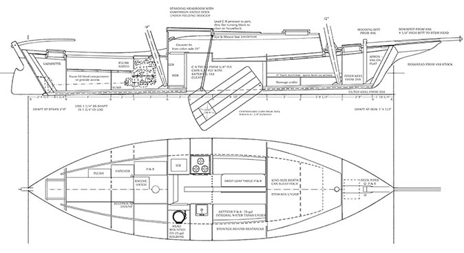 Plan and inboard profile