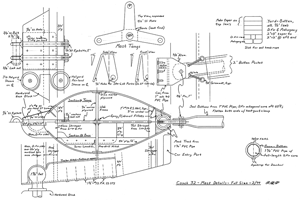 Construction details for the Conch 32 lower mast