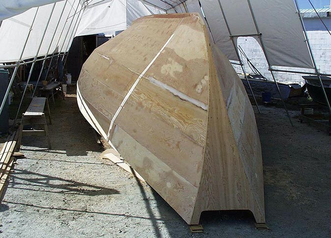 The hull inder construction.