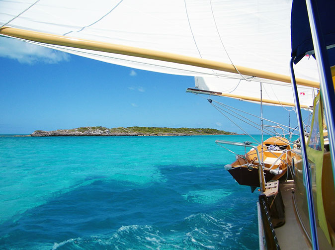 Sailing from the Banks into Exuma Sound
