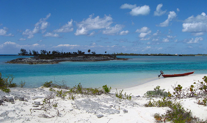 Joe's Sound and beach of Hog Cay.