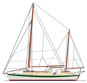 Sea Bright 39 Sail Plan