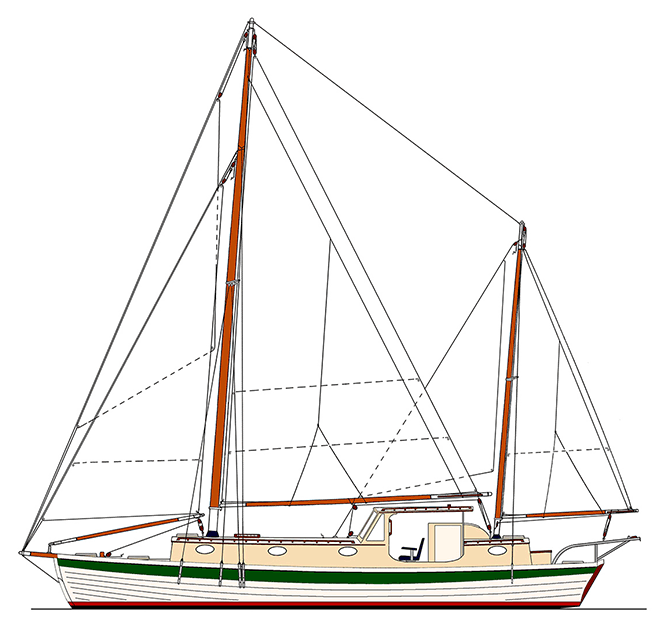 Sea Bright 39 Sail Plan.