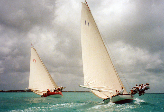Class A sloops racing.