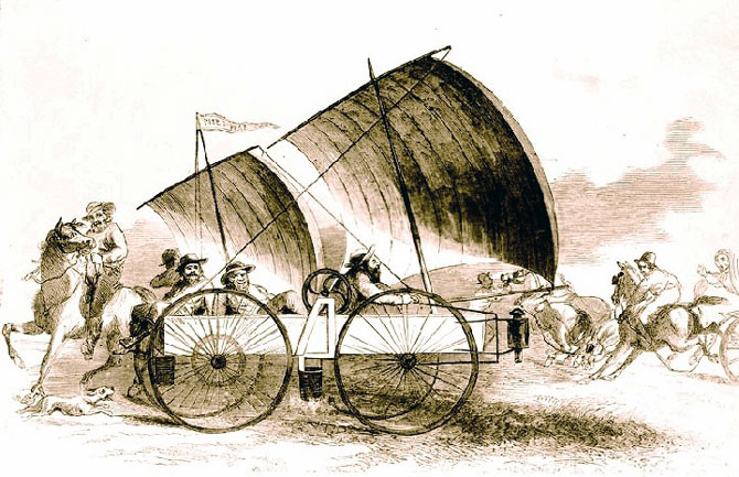 Wind wagon.