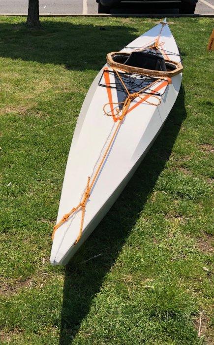 YAK-A-DOODLE, skin-on-frame kayak.